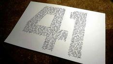 Dave Matthews Band 41 Handwritten Lyric Silhouette  by JerriThings