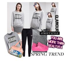 """Graphic Sweatshirt Contest / Adidas"" by cssnead ❤ liked on Polyvore"