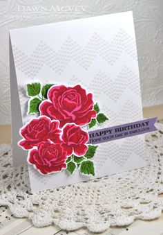 Fabulous Birthday Card by Dawn McVey for Papertrey Ink (September 2013)