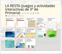 """""""13 Juegos y actividades interactivas para la práctica de LA RESTA en 3º de Primaria"""" Educational Games, Maths Area, Interactive Activities, Math Games, Teaching Resources, Learning, Learning Games"""