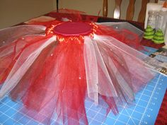 Step by step instructions for no-sew tulle tutus