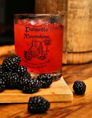 Devil's Punch 2 oz. Blackberry Palmetto Moonshine ½ oz fresh lemon juice ½ oz fresh orange juice ½ oz real grenadine ½ oz simple syrup 3 blackberries muddled