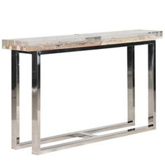 Driftwood In Acrylic Console  Contemporary, Industrial, MidCentury  Modern, Organic, Metal, Acrylic, Console Table by Michael Dawkins Home