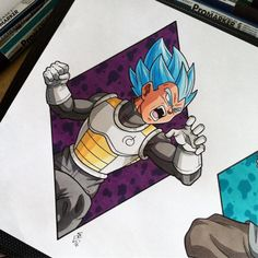 Vegeta Super Saiyan God Blue Tattoo Design by Hamdoggz on DeviantArt