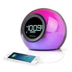 Gift Ideas for Teenage Girls ihome Bluetooth Color Changing Alarm Clock/Radio/Speakers for Caitlyn? In another color for Jeffrey?ihome Bluetooth Color Changing Alarm Clock/Radio/Speakers for Caitlyn? In another color for Jeffrey? Radio Alarm Clock, Digital Alarm Clock, Ihome Bluetooth, Bluetooth Gadgets, Capas Iphone 6, Teenager Mode, Tween Girl Gifts, Shopping, Gift Ideas