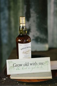 """""""Grow old with me the best is yet to be"""" Pre-wedding gift from the bride to her groom 