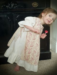 Vintage slip dress and pinafore