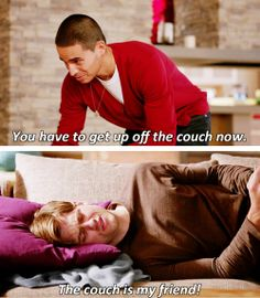 """""""The couch is my friend!"""" Poor Mike. I know that feeling."""