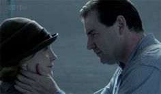 Anna and Mr Bates on Downton Abbey Christmas Special 2011