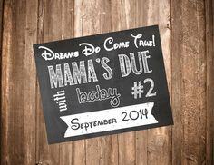 Printable Chalkboard Pregnancy Sign-Printable by StephAnnDesigns