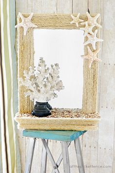 Fancy rope covered mirror - 30 Awesome DIY Crafts You Never Knew You Could Do With Rope