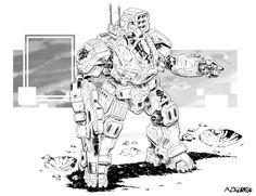 Comm: Battlemaster Refit by mattPLOG on DeviantArt Army Of Two, Fighting Robots, Custom Paint Jobs, Space Marine, Dark Ages, War Machine, Cyberpunk, Line Art, Science Fiction