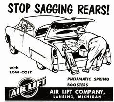 31 best vintage strangeness images weird vintage vintage ads 1956 DeSoto Logo i guess i need to get me some pneumatic spring boosters weird vintage advertising