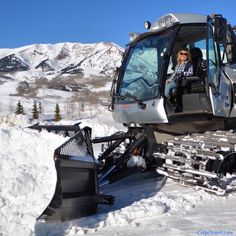 Things to do in Crested Butte Colorado Besides Skiing: Learn to drive a snowcat. Seriously, it's one heck of a way to carve up the snow. Click over for other ideas on things to do in Crested Butte.