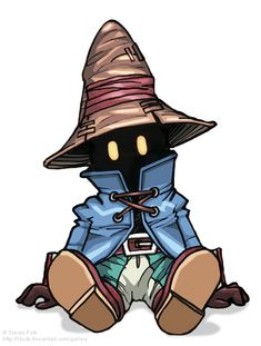 Vivi from Final Fantasy IX. I remember playing for hours while my baby sister watched.
