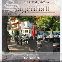 """""""Tiroler Wirtshaus"""" Bodenständig - echt - authentisch! Lassen Sie sich nach diesem Motto vom Junior Chef des Hauses mit traditionellen Schmankerl und internationaler Küche im Restaurant Bärnstatt am Fuße des Wilden Kaisers verwöhnen.  Ein Geheimtipp für alle Fischliebhaber sind die Gerichte von unseren fangfrischen BIO Forellen aus dem eigen Kalter sowie der Tiroler Hausmannskost.  #wirsehenunsbald🙋 #Lieblingsplatz #bärenstark 🐻 #innaherferne👀 #hintersteinersee💦 Cocktail Dressing, Wilder Kaiser, Restaurant, Motto, Table Decorations, Furniture, Home Decor, Brown Trout, Food Menu"""