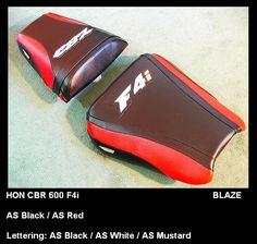 #Honda motorcycle 2001-03 CBR 600 F4i BLAZE Line seat cover set custom. free gift & ship   #customseatcreations