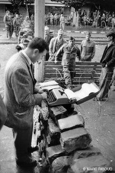 Alger, janvier 1960. Un journaliste.