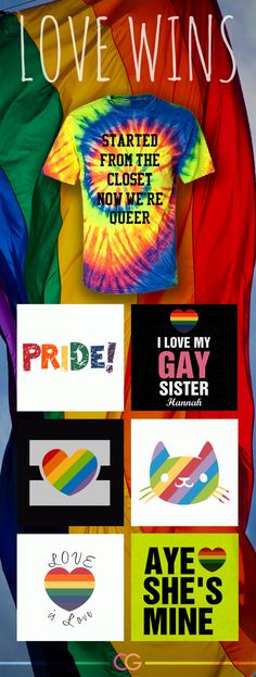 Custom gay pride shirts! #gay #gaypride #lovewins