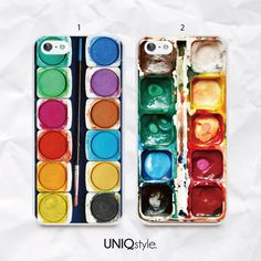 Watercolor paint box phone case for iPhone 4/4s 5/5s 5c, Samsung s3, s4, s4 active, s5, s5 active, Note2, Note3 - Artistic paints case - A23
