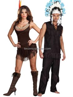 Indian Couples Costumes, Adult #Halloween Costumes, Indian Chief Costumes, PIN10 for 10% off your order!