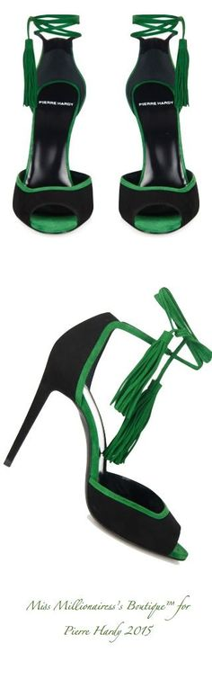 Pierre Hardy Lace-Up Suede Sandals for Fall 2015 - Miss Millionairess's…