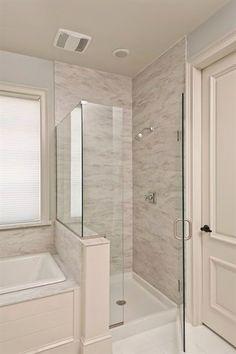 Standard 9ft x 7ft master bathroom floor plan with bath ...