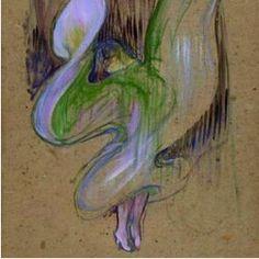 """By Henri de Toulouse-Lautrec (1864-1901), 1893, """"La Loïe Fuller aux Folies-Bergères"""", Oil on cardboard, musée Toulouse-Lautrec."""