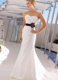 This is beautiful... I have to have a black sash on my dress... wedding dress…