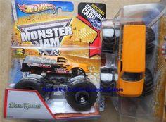 2013 Bad Habit Hot Wheels Monster Jam New Deco 1:64 scale truck with CRUSH CAR #HotWheels #diecast