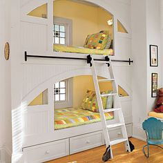 Kid's Room: Rolling Ladder - Southern Living