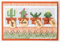 Cross Stitch Border » Marianne Design Cross Stitch Cards, Cross Stitch Borders, Cross Stitch Designs, Cross Stitching, Cross Stitch Embroidery, Cross Stitch Patterns, Paper Cards, Diy Cards, Embroidery Cards