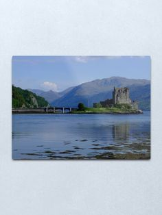 """Eilean Donan Castle"" Metal Print by goldyart Eilean Donan, Round Corner, Print Design, Castle, David, Wall Art, Metal, Artist, Artwork"
