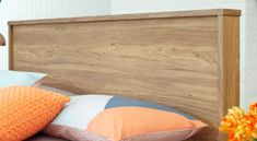 This headboard features a warm walnut wood-grain veneer, sleek straight lines and immaculate edging that will surely impress. Queen Headboard, Bed Head, Walnut Wood, Bedroom Furniture, Bed Pillows, Pillow Cases, Rooms, Bed Furniture, Pillows