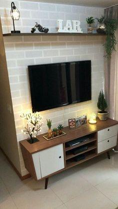 +40 Racks para Sala Pequena Modernos e Elegantes! – Decoração de Casa