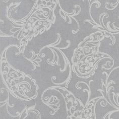 295-66505 Platinum Fish Paisley - Monireh Kenneth James Wallpaper