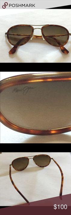 maui Jim unisex polarized sunglasses maui jim small kine unisex polarized sunglasses gold frame/ HCL bronze lens Maui Jim Accessories Glasses