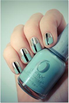 silver/mint/black