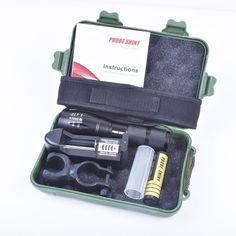 flashlight Set, Sandistore X800 Flashlight CREE XM-L T6 LED Zoom Military Torch ShadowHawk   Battery (Black) ** Visit the image link more details.
