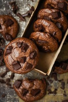 all the beauty things. Brownie Cookies, Chocolate Cookies, Chocolate Desserts, Cake Cookies, Cupcakes, Brownie Recipes, Cookie Recipes, Dessert Recipes, Sweet Desserts