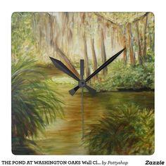 THE POND AT WASHINGTON OAKS Wall Clock