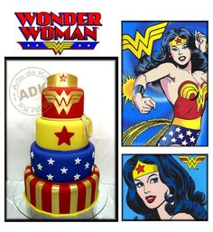 wonder woman cake --- I want this for ME!!!