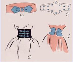 Vintage Sewing Pattern 1940's Style Belts and by Mrsdepew on Etsy, $7.50