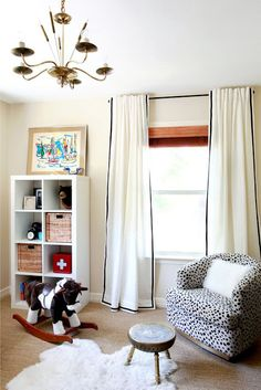 Ikea Ritva Curtains -- Sew a pleat in the top to give them a more professional look.