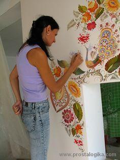 петриковская роспись стены