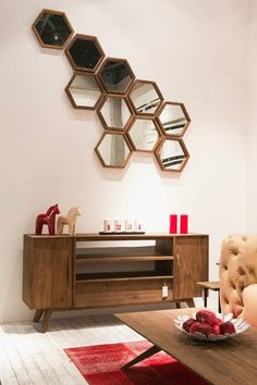The D-Bodhi Hexagon Mirror from LH Imports is a unique home decor item. LH Imports Site carries a variety of D-Bodhi items. Accent Furniture, Living Room Furniture, Living Room Decor, Unique Home Decor, Home Decor Items, Recycled Wood Furniture, Teak Wood, Types Of Wood, Wood And Metal