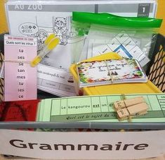 Grammar workshops in Cycle 2 – Enter my class - Back To School School Life, Back To School, Cycle 2, French Immersion, Montessori Activities, Learn French, French Language, Teaching Tips, Best Teacher