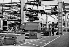 Planta VW tipo 2 en Hanover post 1956