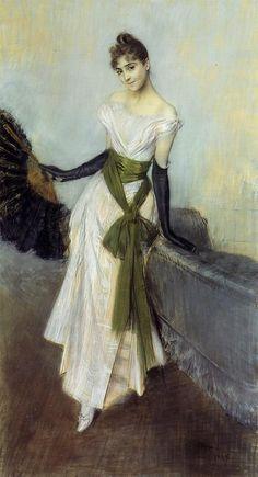 Giovanni Boldini (1842-1931) Portrait of Signorina Concha de Ossa Pastel on prepared canvas 1888