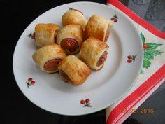 Virslis falatkák (hasé) leveles tésztából - Jutka Kukta Pretzel Bites, French Toast, Bread, Cooking, Breakfast, Google, Kitchen, Morning Coffee, Brot